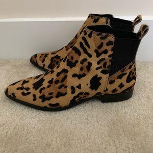 ASOS size 12 faux-hair leopard print Boots